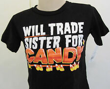 Will Trade Sister for Candy Halloween T-shirt kids 12M 3T 4T 5T