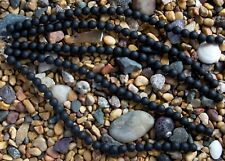 8mm Round Beach Sea Glass Beads You Pick The Color! Opal Amber Black Blue Zircon