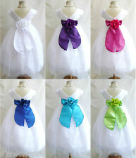 NEW VB WHITE BRIDESMAID WEDDING PAGEANT PARTY RECITAL TODDLER FLOWER GIRL DRESS