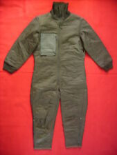 GERMAN ARMY OLIVE GREEN COLD WEATHER (AFV) COVERALL TANK SUIT LINER (USED)