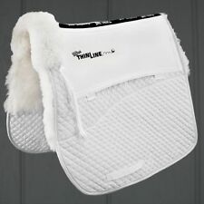 ThinLine SHEEPSKIN Comfort Dressage Square Saddle Pad - BLACK or WHITE (#3330)