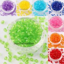 Wholesale Lots 500 pcs 6mm Acrylic Crystal Bicone Spacer Beads Findings