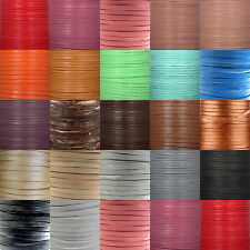 5mm Flat Ribbon Real Leather High Quality Finding Cord String Lace Rope