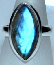 Labradorite Ring, Marquise shaped Gemstone 925 Sterling SILVER Rings; All Sizes