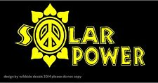 Decal Sticker Graphic for car truck window Solar Power with Peace Flower