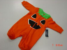 NWT Baby Outfit Infant Halloween Themed Sleeper Playsuit Unisex Pumpkin Orange