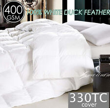 DUCK FEATHER 330TC Cotton Cover QUILT/DOONA/DUVET King/Queen/Double/Single Size