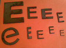 "Raw Metal Art Letter: ""E"" - Different Sizes and Fonts - Metal Steel - Unique Raw"