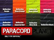 550 paracord parachute cord Reflective Type III 7 Strand - 10ft 20ft 50ft 100ft
