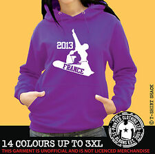 Ski & Snowboard France Any Resort Hoody, Hoodie, Ski Holiday Hooded Sweat (998)