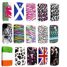 FOR SAMSUNG CHAT S3350 STYLISH PRINTED PATTERNED HARD SHELL BACK SKIN CASE COVER