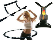 DOOR GYM PULL UP CHIN BAR / MAGNETIC FITNESS HULA HOOP /  6 SECOND ABS WORKOUT