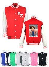 one direction harry styles with intials koolart Varsity Letterman college Jacket