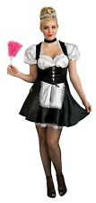 French Maid Upstairs Chamber Sexy Dress Up Halloween Plus Size Adult Costume