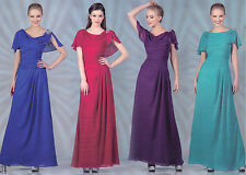 7 COLOR PARTY LONG Mother Of Bride/Groom HOMECOMING PROM FORMAL DRESS GOWN S-3XL