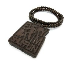 Every Day Im Shufflin Song LMFAO Wooden Pendant Beaded Necklace Hip Hop