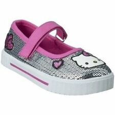 NIB HELLO KITTY Shoes Dark Pink Silver Sequin Sparkle 11 12