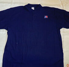 NW Men's Uniform Duane Reade  Work Navy Short Sleeve Pique Polo Shirt  Blue