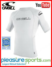 O'Neill Mens Skins Short Sleeve Rashguard 50+UV Protection