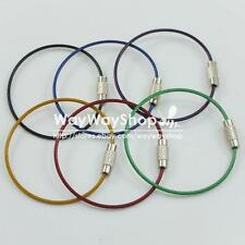 Wire Keychain keys Aircraft Cable Stainless Steel RING key part Mix color