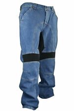 DENIM CLASSIC FIT Mens Motorcycle PANTS BLUE Xelement REMOVABLE PADDED KNEE NEW