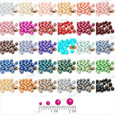 4mm/6mm/8mm/10mm Fashion Round Loose Plexiglass Pearl Beads Wholesale 30 Color