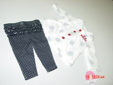 NWT Infant Girls 2 pc set Carters Fleece Jacket Black Pants Polka Dots Dog