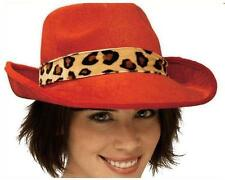 Leopard Daddy Hat Pimp Ho Red Cheetah Dress Up Halloween Adult Costume Accessory