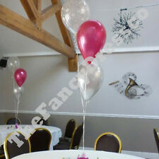 Birthday Party Helium Balloon Cluster DIY Kit - Pink & Silver Age 18 21 30 etc