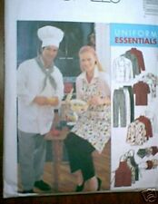 PATTERN men women Chef uniform jacket hat apron S M L XL XXL cooks outfit m2233