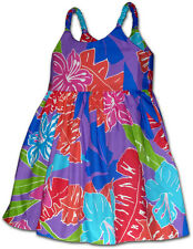Girls Hawaiian Dress 100% Cotton Jams Tropical 130-3767 NEW Made in Hawaii.