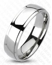 Classic Beveled Solid Titanium Wedding Ring Band Size 5-14 FREE SHIPPING