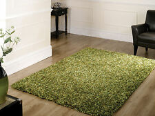 Large Super Soft Shaggy Quality Green Rug in Three Sizes Carpet