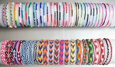 Mixed Designs FRIENDSHIP BRACELET Cotton Surfer Wristband Hippy Boho Surf Gift