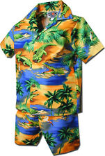 Toddler Hawaiian Cabana Set Gator 220-3132 NEW 100% Cotton Made in Hawaii.