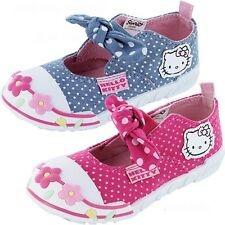 Girls Hello Kitty Daffodil Canvas Trainers Shoe Sizes 4-10
