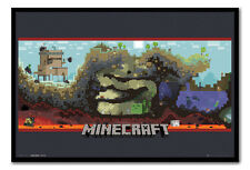 Framed Minecraft Underground Poster Ready To Hang - Choice Of Frame Colours
