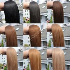 "12""-26"" Remy Brazilian AAAA Grade Straight Human Hair Sewed Weft Extensions 100G"