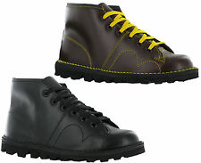 Mens Grafters Monkey Boots Original Leather Wine/Black Lace up sizes uk6-12