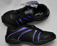 dance sneakers black and purple  capezio ds30 adult bolt fitness dance jazz
