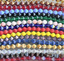 6mm Bicone Czech Glass Beads 25 Choose Color