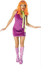 Daphne Scooby-Doo 60's Mod Hippie Retro Fancy Dress Up Halloween Adult Costume