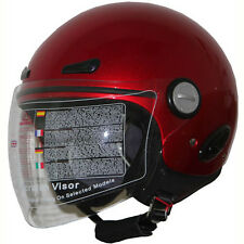 Motorcycle Open Face scooter Helmet DOT 318 wine red