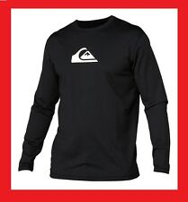Quiksilver Solid Streak Men's Long Sleeve Loose Fit Rashguard - Black