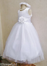 WHITE BROWN GOLD BLACK SILVER BEIGE BABY TODDLER PAGEANT PARTY FLOWER GIRL DRESS