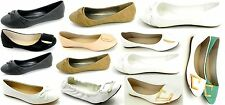 Women's Ballet Flats Slip On ballerina Casual Slipper Pumps Dolly shoes sz 5-10
