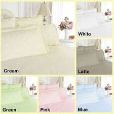 Broderie Anglaise / Damask Quilt Cover Set OR  Sheet Set – DOUBLE QUEEN KING
