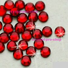 Light Siam Red Iron On Flatback Hotfix Rhinestone Crystal Glass DIY Diam​ante