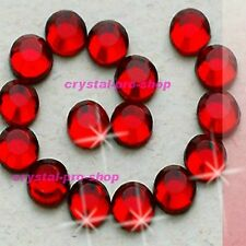 Siam Red Iron On Flatback Hotfix Rhinestones Crystal Glass gems Bling Diam​ante