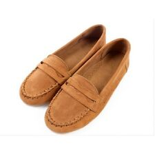 6 Colors US Size 5-9 New Suede Leather Solid Casual Sneakers Flats Womens Shoes